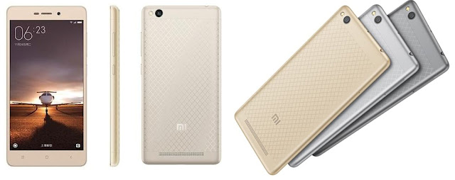 Xiaomi Redmi 3 Spesifications - LAUNCH Announced 2016, January DISPLAY Type IPS LCD capacitive touchscreen, 16M colors Size 5.0 inches (~71.1% screen-to-body ratio) Resolution 720 x 1280 pixels (~294 ppi pixel density) Multitouch Yes  - MIUI 7.0 BODY Dimensions 139.3 x 69.6 x 8.5 mm (5.48 x 2.74 x 0.33 in) Weight 144 g (5.08 oz) SIM Dual SIM (Micro-SIM/Nano-SIM, dual stand-by) PLATFORM OS Android OS, v5.1 (Lollipop) CPU Quad-core 1.5 GHz Cortex-A53 & quad-core 1.2 GHz Cortex-A53 Chipset Qualcomm MSM8939v2 Snapdragon 616 GPU Adreno 405 MEMORY Card slot microSD, up to 128 GB (uses SIM 2 slot) Internal 16 GB, 2 GB RAM CAMERA Primary 13 MP, f/2.0, phase detection autofocus, LED flash, check quality Secondary 5 MP, f/2.2, 1080p@30fps Features Geo-tagging, touch focus, face/smile detection, HDR, panorama Video 1080p@30fps, check quality NETWORK Technology GSM / CDMA / HSPA / EVDO / LTE 2G bands GSM 900 / 1800 / 1900 - SIM 1 & SIM 2  CDMA 800 / 1900 3G bands HSDPA 850 / 1900 / 2100  TD-SCDMA  CDMA2000 1xEV-DO 4G bands LTE band 1(2100), 3(1800), 7(2600), 38(2600), 39(1900), 40(2300), 41(2500) Speed HSPA, LTE, EV-DO Rev.A 3.1 Mbps GPRS Yes EDGE Yes COMMS WLAN Wi-Fi 802.11 b/g/n, Wi-Fi Direct, hotspot Infrared Port Yes GPS Yes, with A-GPS, GLONASS, BDS USB microUSB v2.0 Radio FM radio Bluetooth v4.1, A2DP FEATURES Sensors Sensors Accelerometer, gyro, proximity, compass Messaging SMS(threaded view), MMS, Email, Push Mail, IM Browser HTML5 Java No SOUND Alert types Vibration; MP3, WAV ringtones Loudspeaker Yes 3.5mm jack Yes BATTERY  Non-removable Li-Ion 4100 mAh battery Stand-by  Talk time  Music play   MISC Colors Gold, Dark Gray, Silver, Classic Gold   - Fast battery charging - Active noise cancellation with dedicated mic - DivX/Xvid/MP4/H.264 player - MP3/WAV/eAAC+/FLAC player - Photo/video editor - Document viewer