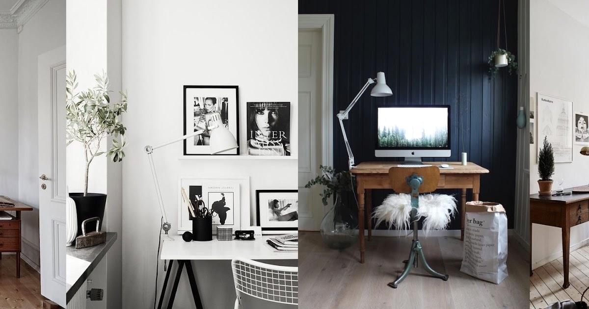 Ufficio Stile Moda : Lo studio in stile nordico shabby chic interiors