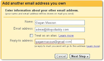 Add another email address you own