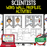 Scientists Profiles & Activity Pages (History) Digital Google Option, Word Wall