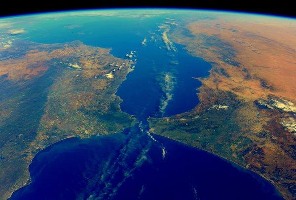 Maestraescuela El Estrecho De Gibraltar Desde El Espacio