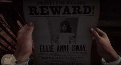 Ellie Anne Swan, Bounty Hunting Guide, RDR2, Red Dead Redemption 2