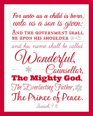 Isaiah 9:6 Free Scripture Wall Art Printable for Advent and Christmas