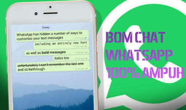 Cara Mudah Bom Chat Pesan WhatsApp 100% Ampuh