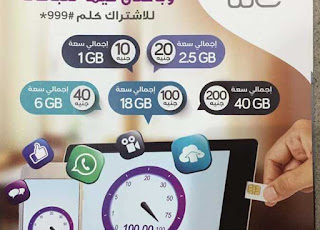"""Telecom Egypt: Mobile Internet Packages of fourth mobile network """" We """""""