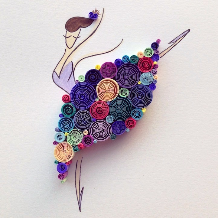 Paper quilling art by sena runa art projects art ideas for Quilling craft ideas