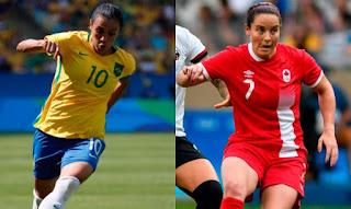 Canadá vs Brasil / Fútbol Olímpico - Mujeres