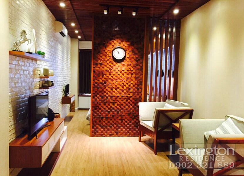 dự án lexington cho thuê căn hộ 1 phòng ngủ - không gian phòng khách