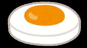 ハンバーガーの具材のイラスト(目玉焼き)