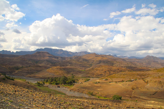 view of canyons and mountains in ethiopia