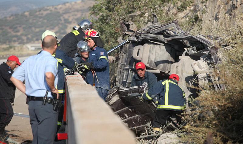 Τραγωδία με έξι μετανάστες νεκρούς σε δυστύχημα στην Εγνατία Οδό