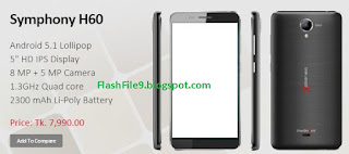 hi friends this post i will share with you upgrade version of symphony h60 flash file. you can easily download this flash file on our site. you happy to know we like to share with you all of upgrade version flash file