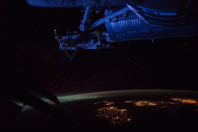Earth and the International Space Station
