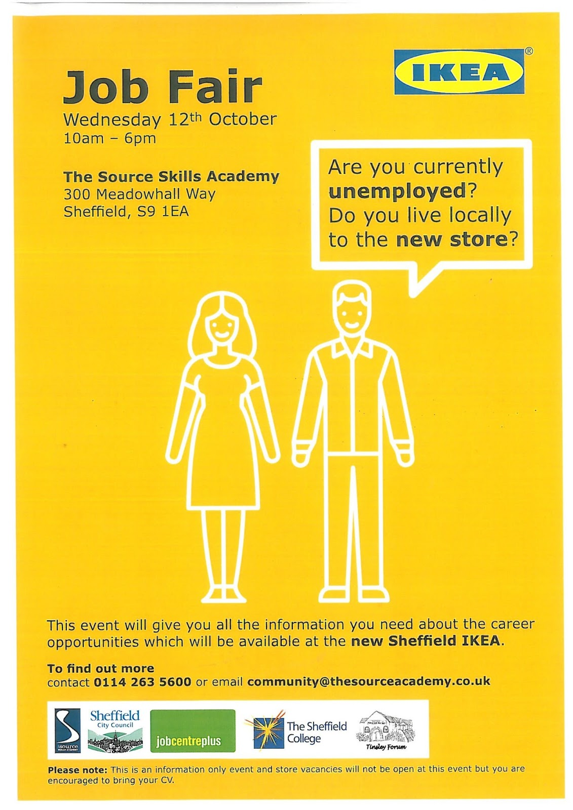 Ikea Poster Welcome To Darnall Forum S Community Website Ikea Job Fair For