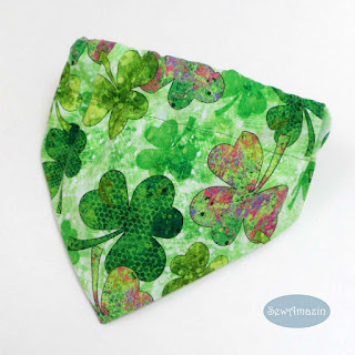 Shades of Shamrocks St Patricks Day Dog Bandana