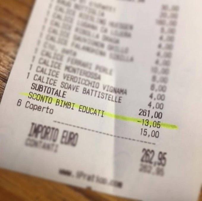 Restaurante dá desconto por 'bom comportamento' de crianças