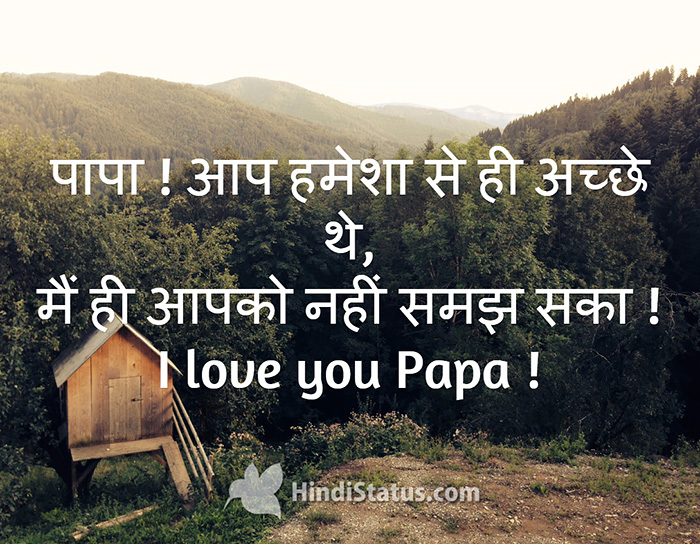 Love You Dad Hindi Status The Best Place For Hindi Quotes And Status