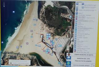 Mapa da Praia Foz do Lizandro