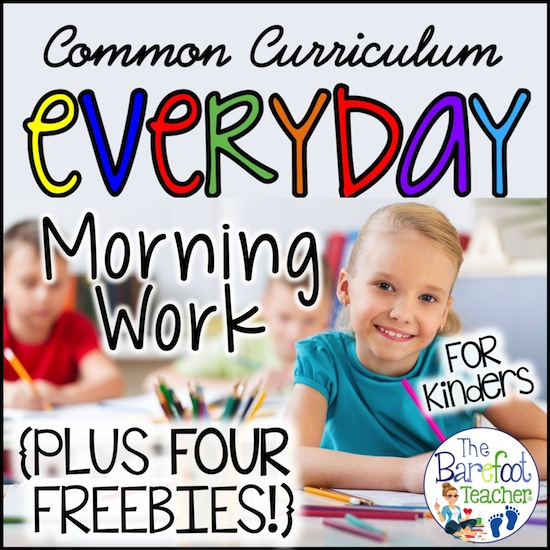 Morning Work for Kindergarten Common Core