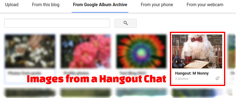 Blogger tip: Insert an image from Google+ or Hangouts into a post