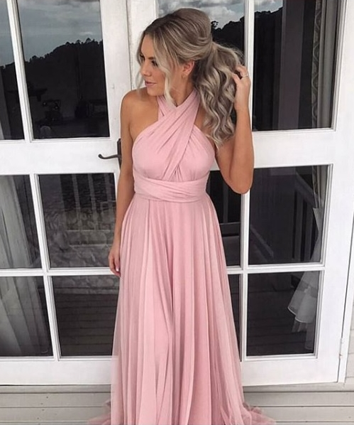 vestido rosa madrinha dia