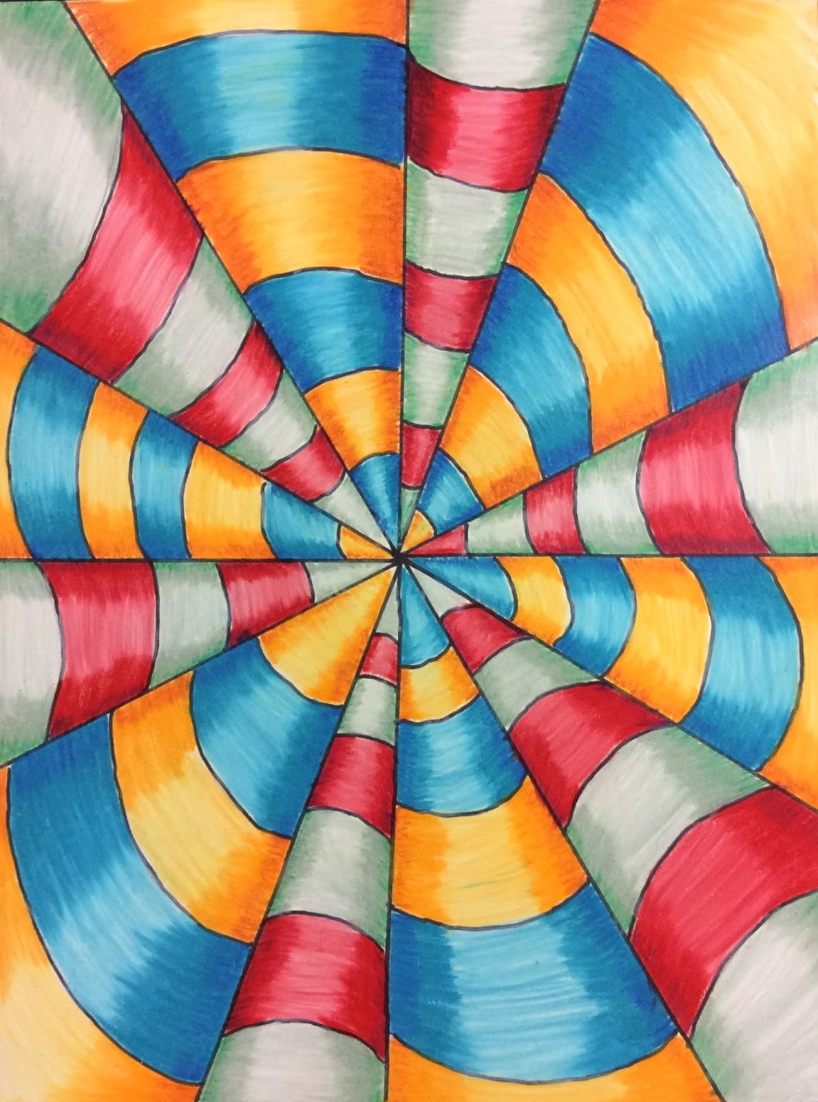 That Little Art Teacher Op Art And Colored Pencil