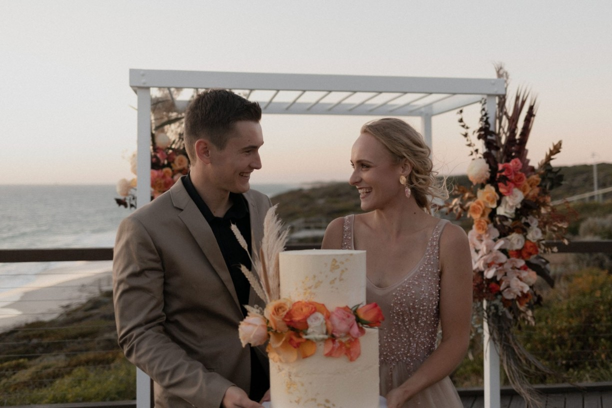 callum and co photography weddings perth florals cake styling beach