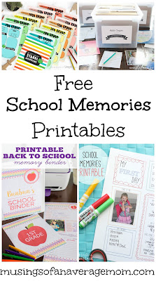 free school memories printables