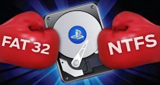 تحويل هارد ديسك خارجي من ntfs إلى ال fat32 (لتشغيل العاب ps3)