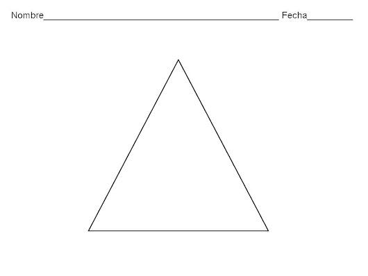 FICHAS DE REFUERZO. EL TRIÁNGULO Colorear el triángulo de color ...