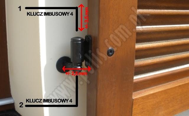 okiennice drewniane, regulacja zawiasów okiennicy,
