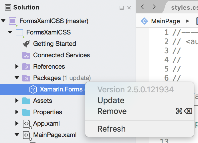 Xamarin Forms 3 0: Styling apps using Cascading Style Sheets