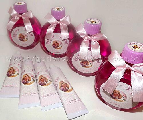 Lembrancinhas Enrolados Rapunzel Rosa