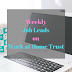 Weekly Job Leads - Work at Home Trust