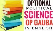 OP Gauba optional political science PDF UPSC IAS
