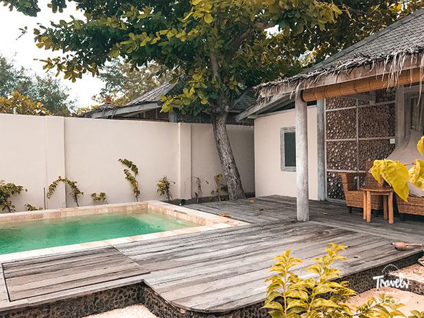 Dónde alojarse en Gili Meno avia villa resort