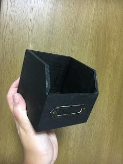 アイアンペイントによる小箱着色