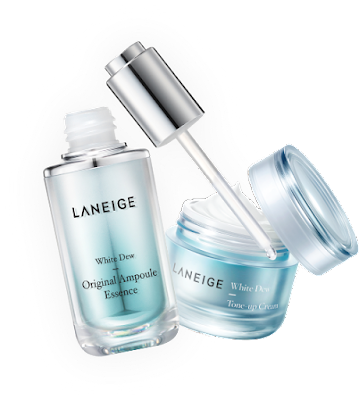LANEIGE White Dew Original Ampoule Essence & White Dew Tone-up Cream Free Sample Giveaway