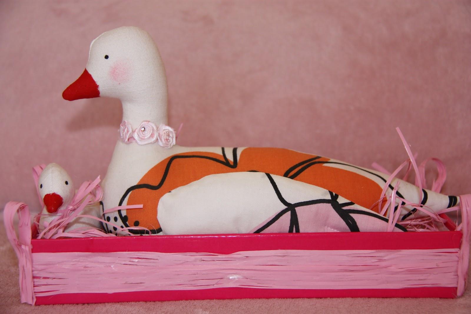 Стрекоза: Утка с утенком (Тильда)