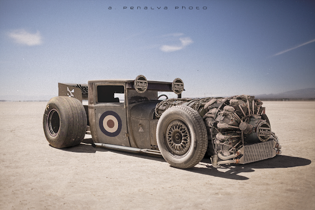 Radial Airplane Engine Hot Rod by Álvaro Peñalva