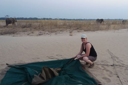 Camping in Zambia