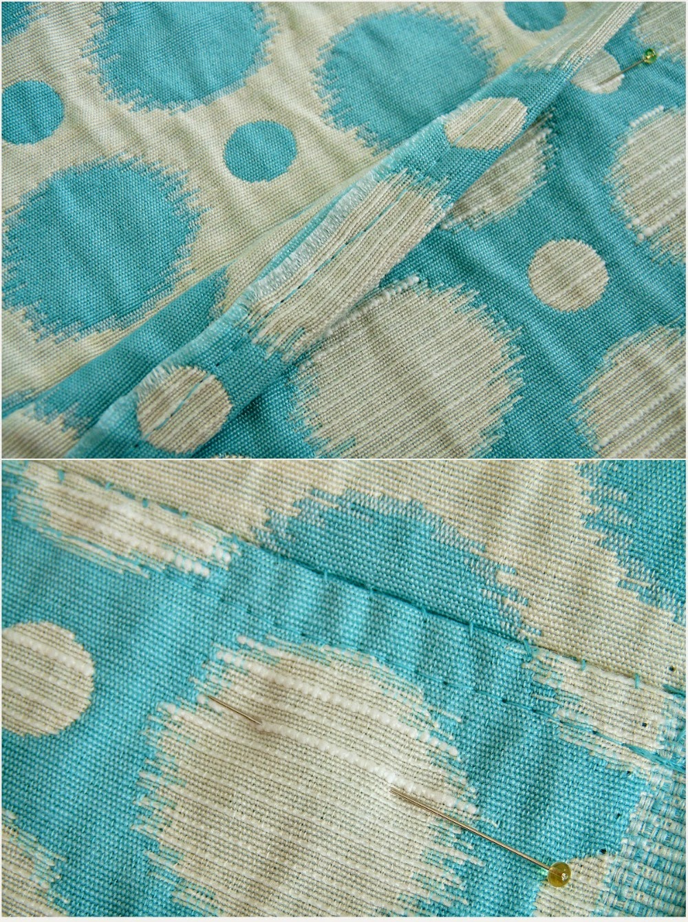 How to hem curtains with an invisible hem
