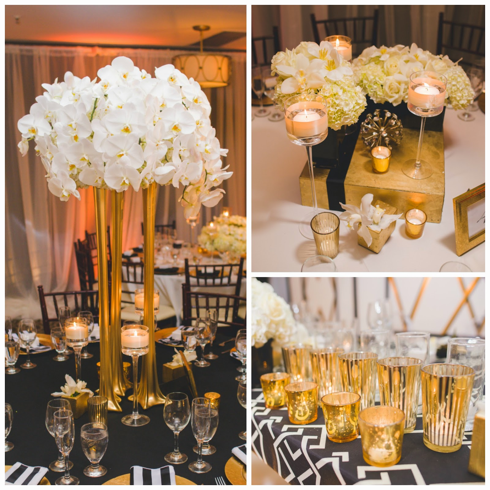 Gold Wedding Centerpiece Decorations: Shawna Yamamoto Event Design
