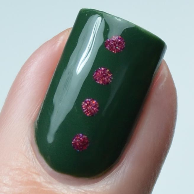 Lou Is Perfectly Polished Christmas Nails Christmas Trees: Polished Lifting: Christmas Tree Nail Art Featuring Powder