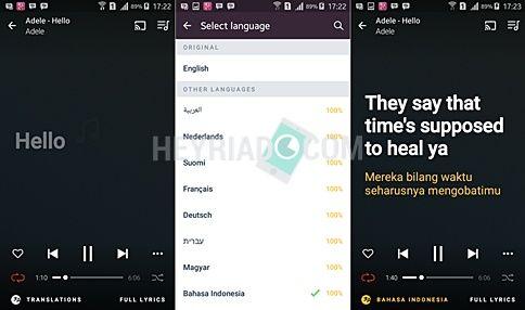sanggup dilakukan secara otomatis tanpa harus melalui google translate Cara Translate/Menerjemakan Lirik Lagu Otomatis di Android