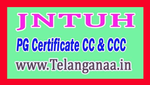 JNTUH PG Certificate CC & CCC Approval Test Data 2018 Jawaharlal Nehru Technology University of Hyderabad