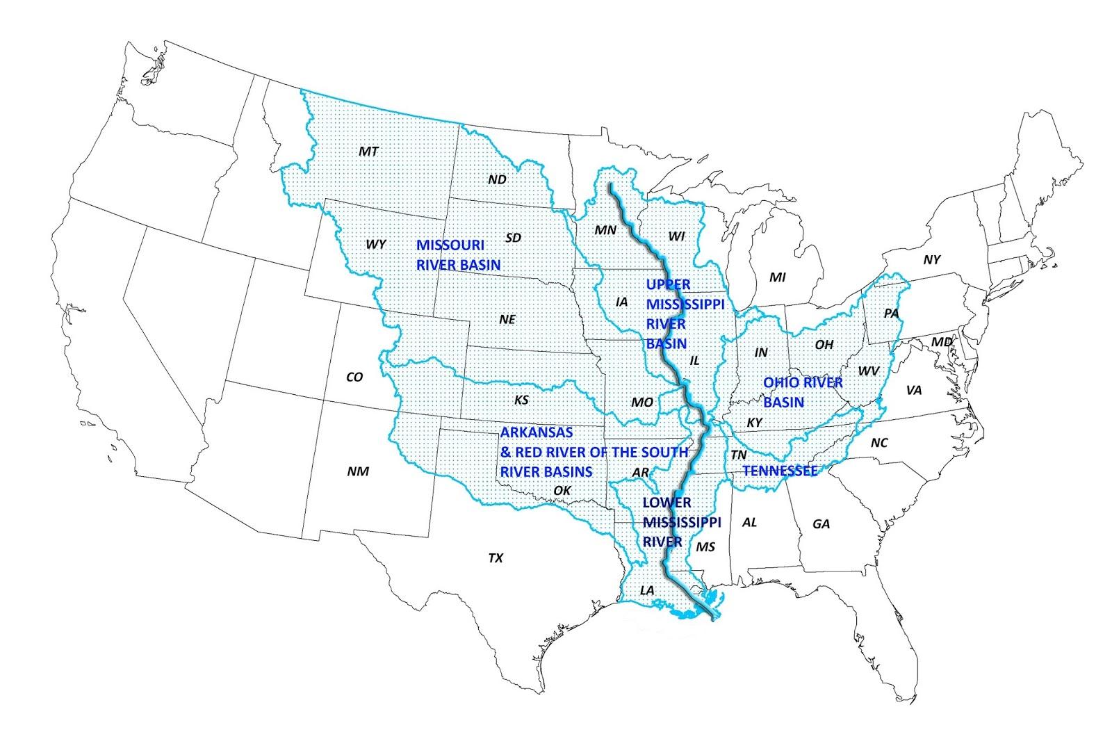 mississippi fleuve carte