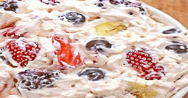 Summer Berry Cheesecake Salad Recipe