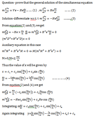 Simultaneous Differential Equation