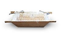 Eski ahşap hamur teknesi